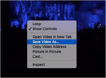 Right-click and save your desired Facebook video