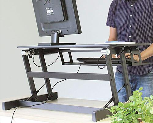 Rocelco Standing Desk for iMac, MacBook, and Windows Desktop