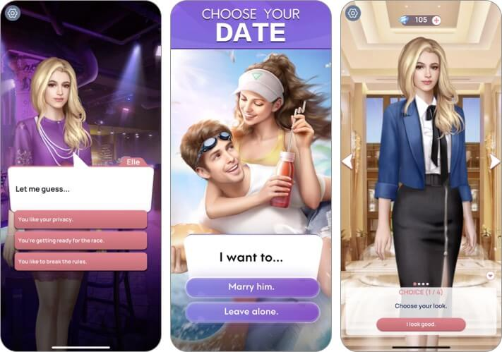 Romance Fate Interactive Story App for iPhone and iPad Screenshot