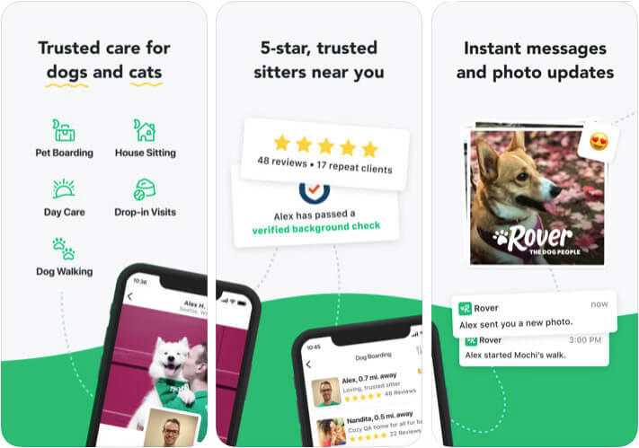 Rover Pet Care iPhone and iPad App Screenshot