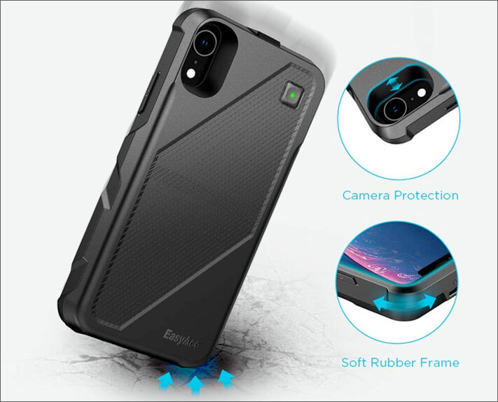 Rugged iPhone XR Battery Case by EasyAcc