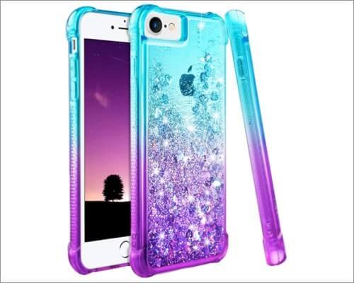 Ruky Glitter Bling iPhone SE 2020 Case for Women