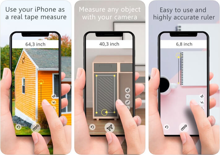 Ruler AR Distance Measurement App for iPhone and iPad