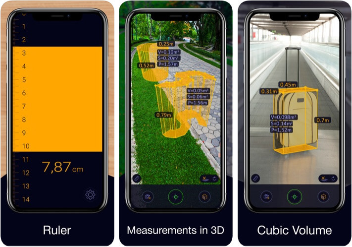 Ruler App AR Tape Measure Distance Measuring App for iPhone and iPad