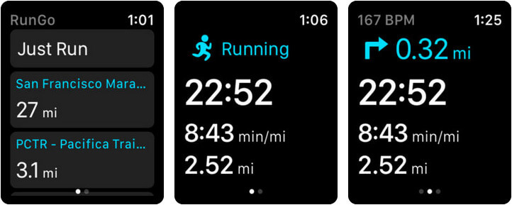 RunGo The Best Routes to Run Apple Watch App Screenshot