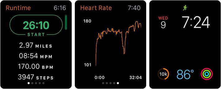 Runkeeper Apple Watch Fitness App Screenshot