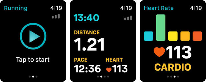 Runkeeper Apple Watch Running App Screenshot