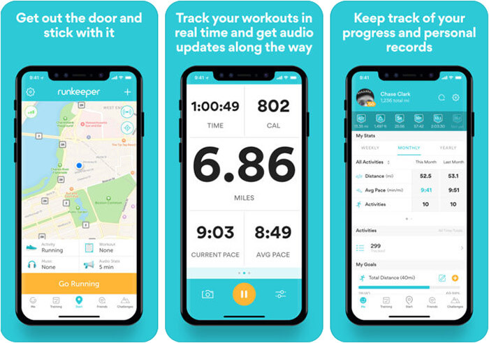 Runkeeper iPhone Cycling App Screenshot