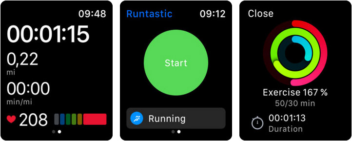 Runtastic Running & Jog App Apple Watch Screenshot