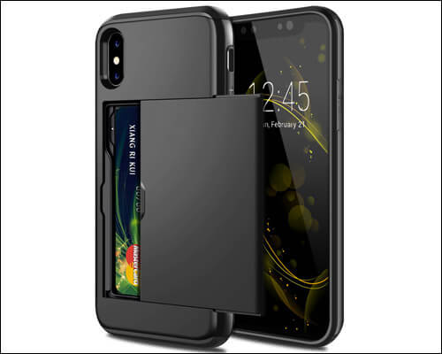 SAMONPOW iPhone X, Xs Card Holder Case