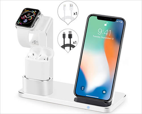 SENZLE iPhone Xs Max, Xs, and iPhone XR Wireless Docking Station