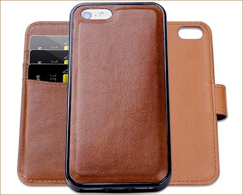 SHANSHUI iPhone SE Wallet Case