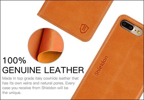 SHIELDON iPhone 7 Plus Leather Case