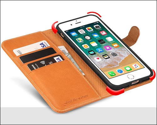 SHIELDON iPhone 8 Plus Leather Case