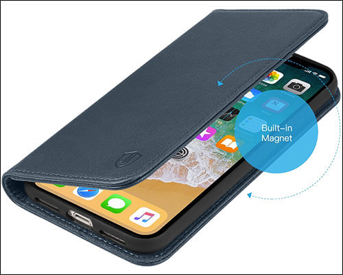 SHIELDON iPhone X Flip Case
