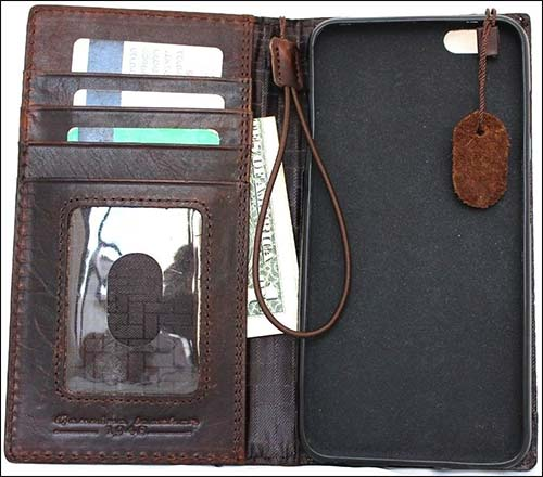 SHOP-LEATHER iPhone 6 Plus Leather Wallet Case