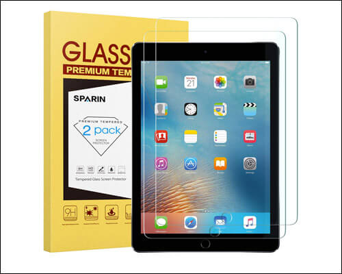 SPARIN 9.7 inch iPad 2018 Tempered Glass Screen Protector