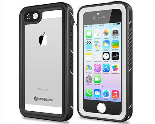 SPIDERCASE Waterproof Case for iPhone 5, 5s, and iPhone SE