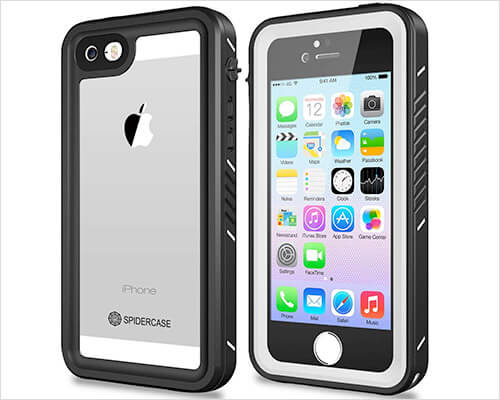 SPIDERCASE iPhone SE, 5s, and iPhone 5 Waterproof Case