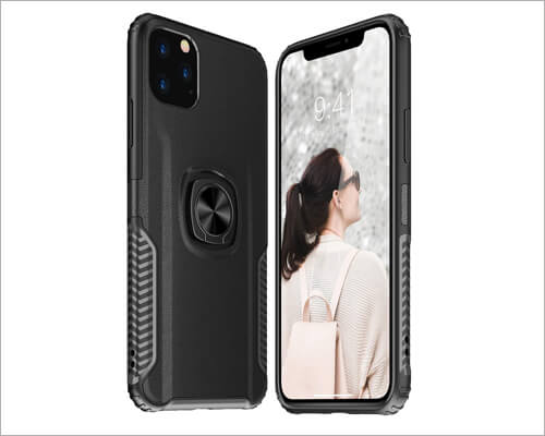 SQMCase Heavy Duty Ring Holder Case for iPhone 11 Pro Max