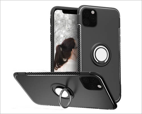 SQMCase Kickstand Ring Holder Case for iPhone 11