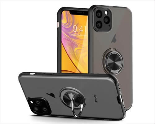 SQMCase Tansparent Ring Holder Case for iPhone 11