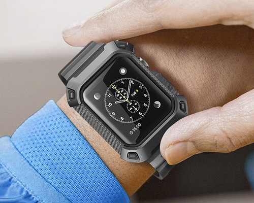 SUPCASE Rugged Case with Strap Band for Apple Watch Series 4
