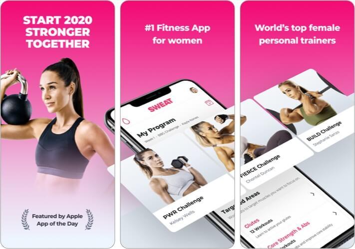 SWEAT Kayla Itsines Fitness iPhone App Screenshot