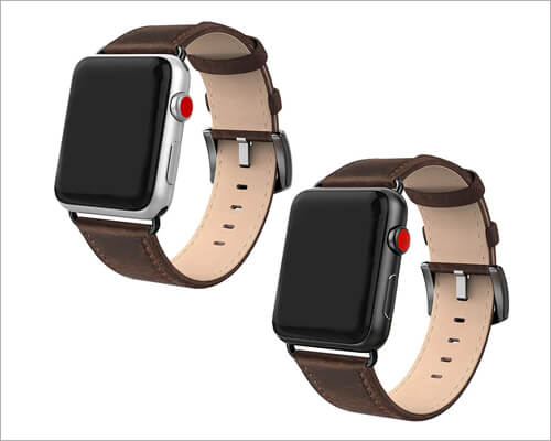 SWEES Leather Band for Apple Watch Series 5