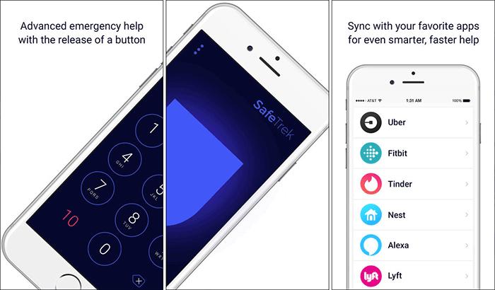 SafeTrek – Hold Until Safe Emergency SOS iPhone App Screenshot