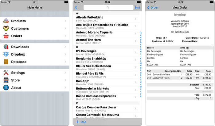 Sales Manager Pro iPhone and iPad App Screenshot