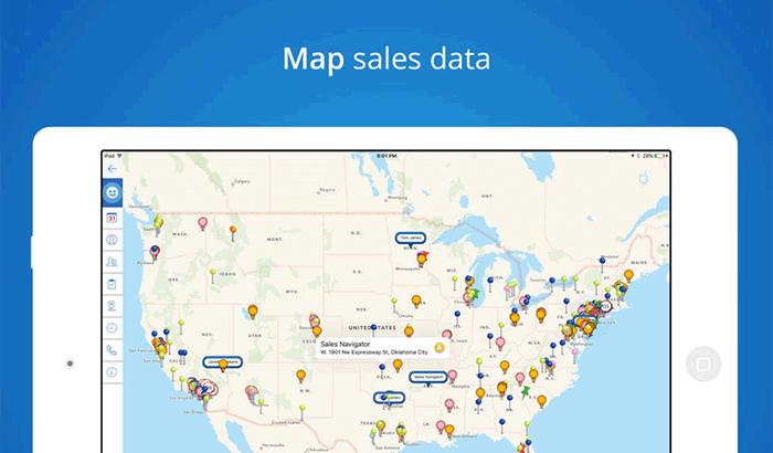 Sales Navigator Business iPad App Screenshot