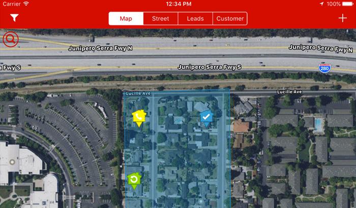 SalesRabbit Business iPad App Screenshot