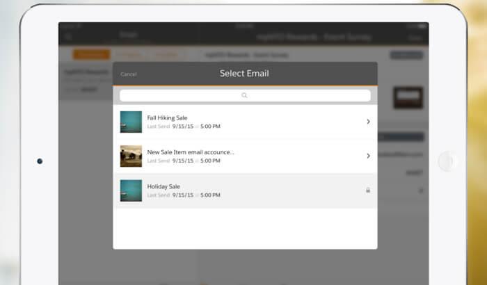 Salesforce Marketing Cloud iPad App Screenshot