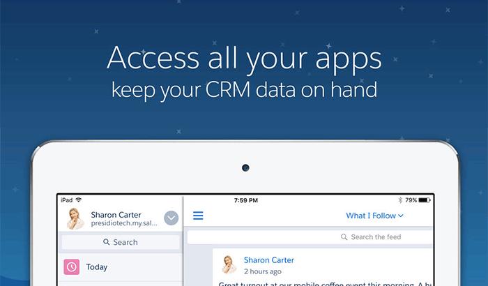 Salesforce1 Business iPad App Screenshot