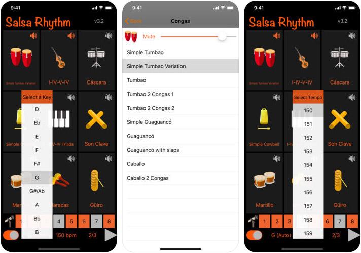 Salsa Rhythm iPhone and iPad Dance App Screenshot
