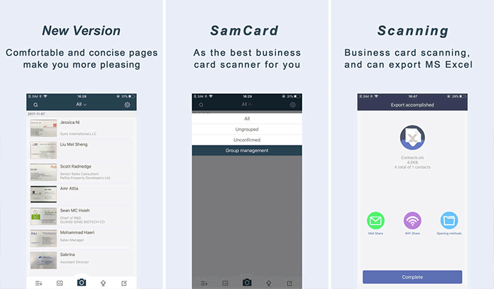 SamCard Pro Business Card Readers and Scanners iPhone App Screenshot