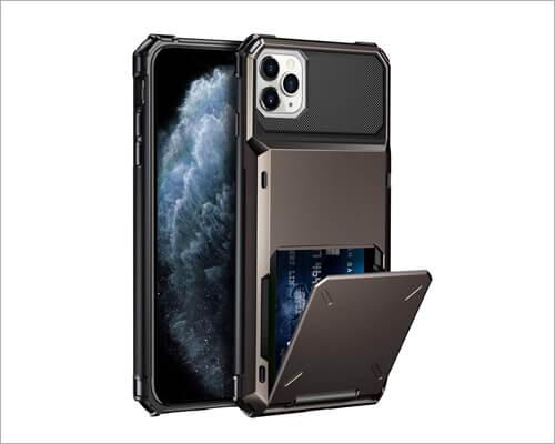 Samonpow Card Holder Case for iPhone 11 Pro