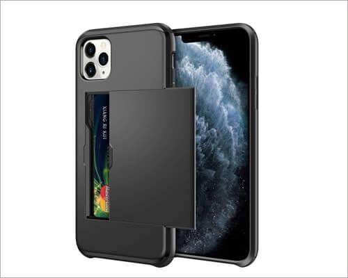 Samonpow Heavy Duty Wallet Case for iPhone 11 Pro