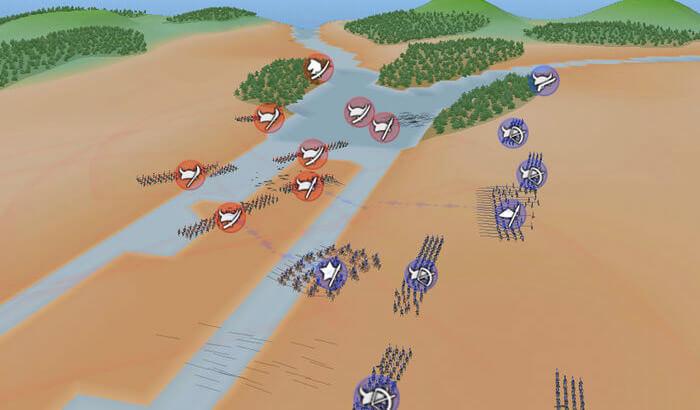 Samurai Wars Strategy iPhone and iPad Game Screenshot