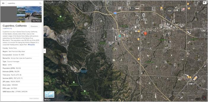 Satellite view in Apple Maps on Windows