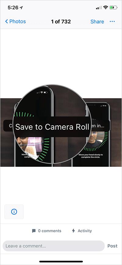 Save DropBox Photos to iPhone Camera Roll