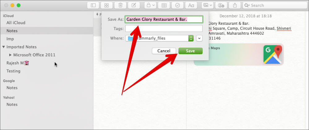 Save Export Notes as PDF on Mac