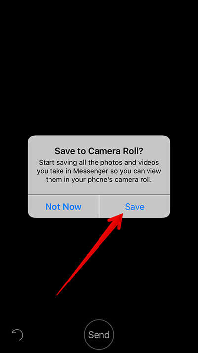 Save Facebook Messenger Video to iPhone Camera Roll