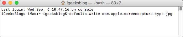 Save Mac Screenshot as JPG