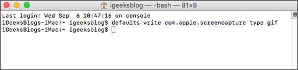 Save Screenshot as GIF on Mac