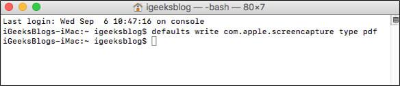 Save Screenshot as PDF on Mac