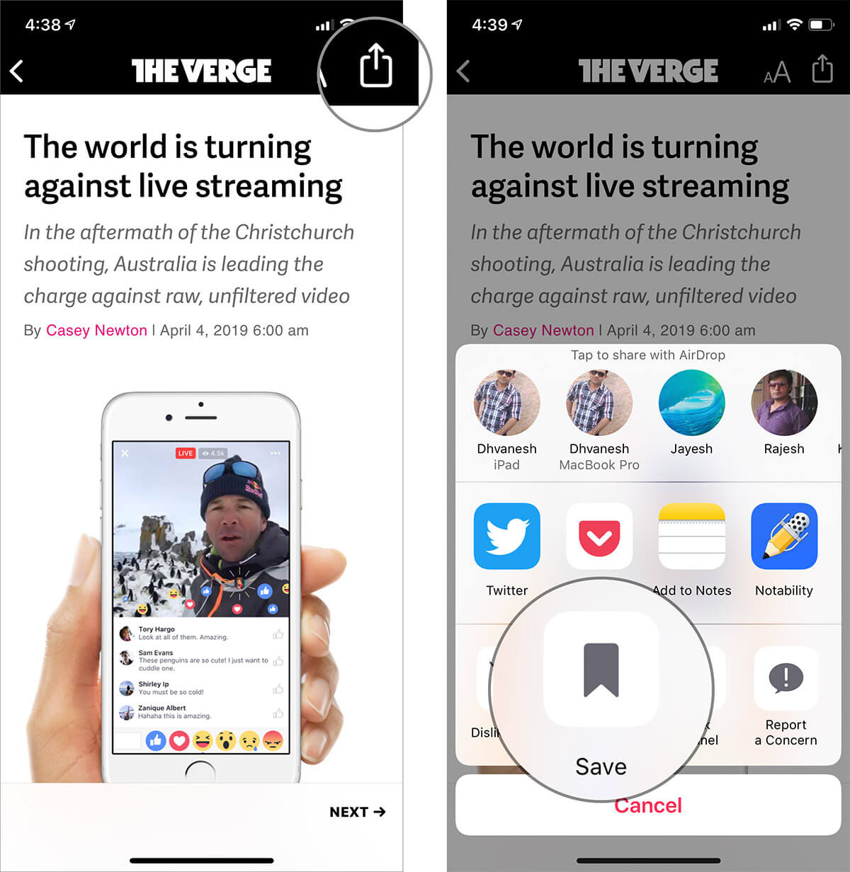 Saved Apple News Stories on iPhone and iPad