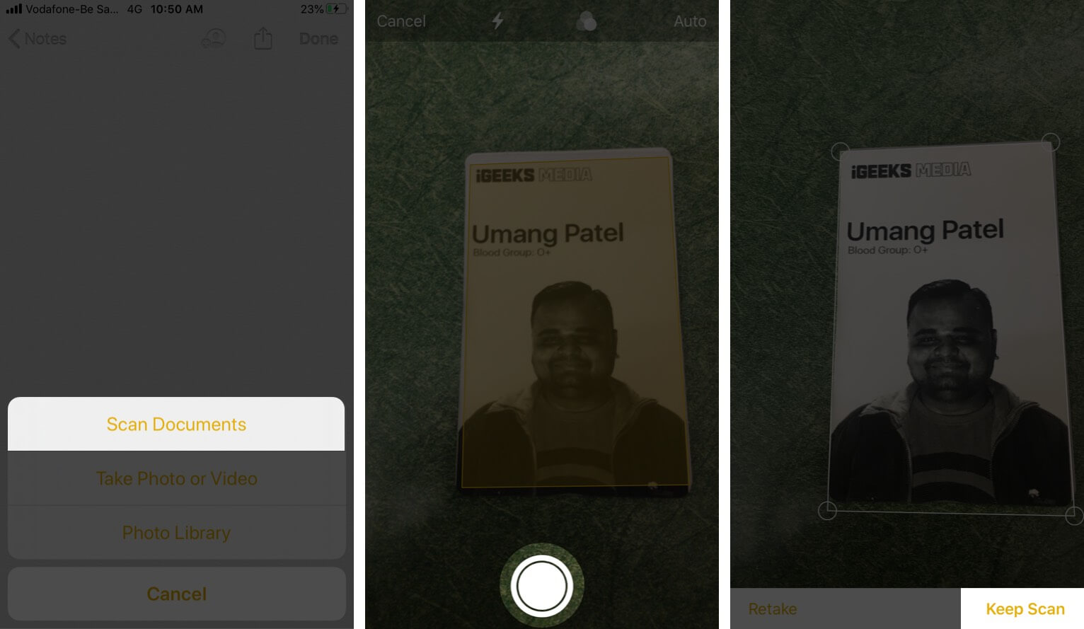 Scan Documents Using Notes App on iPhone