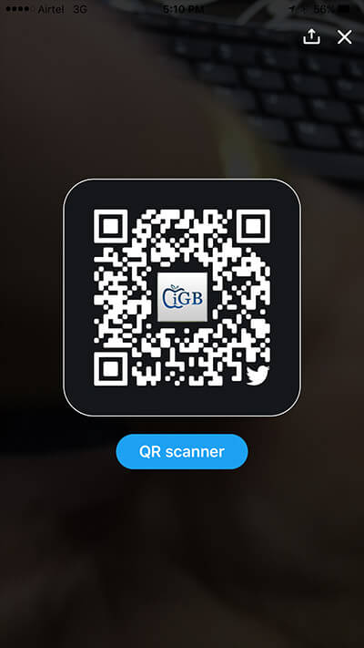 Scan QR Code in Twitter on iPhone